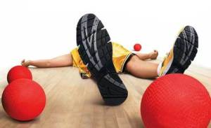 Knocked out in Dodgeball