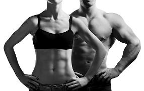 Man and Woman with Six Pack